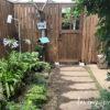中庭に板塀&ガーデンドアを作りました。